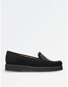 Carvela Comfort Camille embellished suede loafers