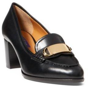 Ralph Lauren Eline Luxe Calf Loafer Black 6.5