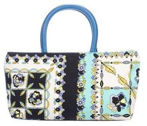 Emilio Pucci Printed Small Canvas Tote