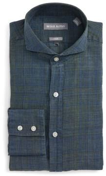 Michael Bastian Men's Trim Fit Linen Dress Shirt