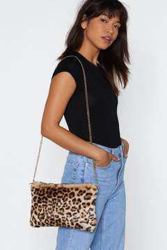 Nasty Gal WANT Big Softy Leoapard Bag