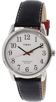 Timex Men's Easy Reader TW2R40000 Silver Leather Analog Quartz Fashion Watch