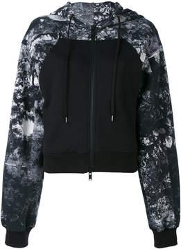 A.F.Vandevorst marbled zipped hoodie