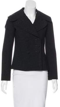 Alaia Wool-Blend Double-Breasted Short Coat