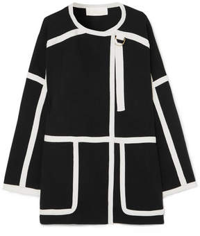 Chloé Iconic Piped Wool Coat - Black