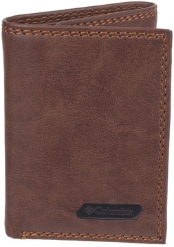 Columbia Men's RFID-Blocking Extra Capacity Leather Trifold Wallet