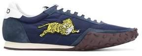 Kenzo Men's Blue Suede Sneakers.