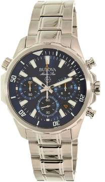 Bulova Men's 96B256 Marine Star Stainless Steel Watch, 44mm