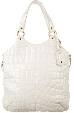 Saint Laurent Quilted Tribute Tote - WHITE - STYLE