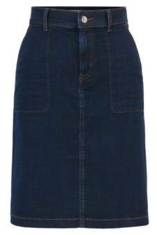 BOSS Hugo Denim Skirt Nedime 2 Dark Blue