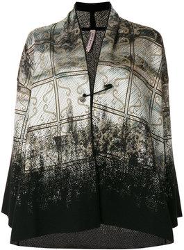 Antonio Marras gradient printed card-coat