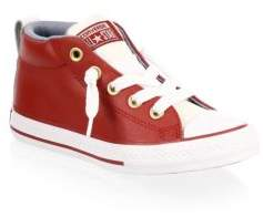 Converse Boy's Street Leather Sneakers