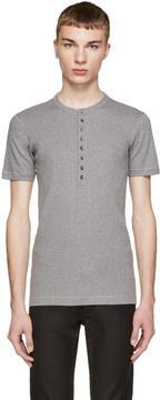 Dolce & Gabbana Grey Jersey Henley