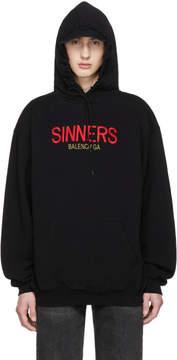 Balenciaga Black Oversized Sinners Hoodie