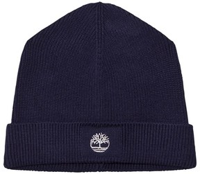 Timberland Navy Knit Branded Beanie