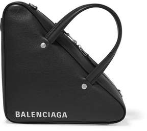 Balenciaga Triangle Duffle Xs Printed Textured-leather Tote - Black