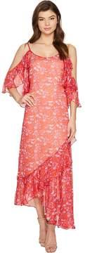 Adelyn Rae Kaileen Woven Printed Frill Slip Dress Women's Dress