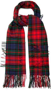 Burberry Tartan-checked wool blend scarf