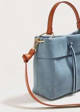 Violeta BY MANGO Pebbled cross-body bag