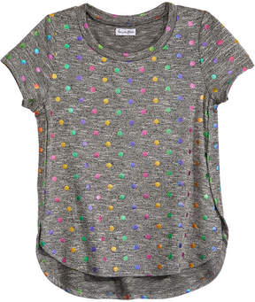 Love, Fire Big Girls Foil-Dot Side Split Top