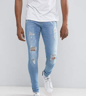 Blend of America Flurry Muscle Jean With Rips Light Wash