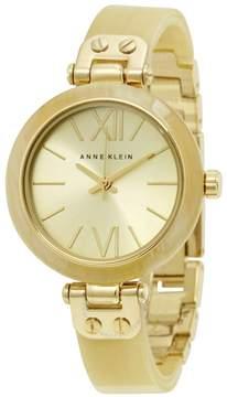 Anne Klein Gold Dial Gold-tone Horn Bangle Ladies Watch