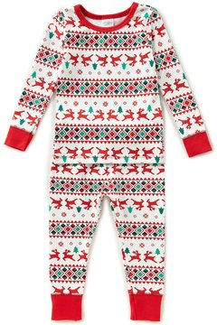 Starting Out Baby Boys 12-24 Months Christmas Fair-Isle Printed Top & Pants Pajama Set