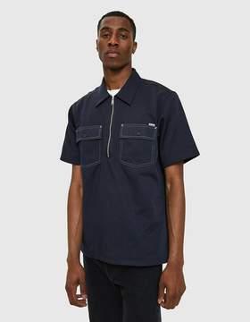 Carhartt Wip S/S Medford Shirt in Dark Navy