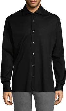 Luciano Barbera Men's Pique Cotton Sportshirt