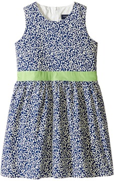 Toobydoo Belted Navy and White Party Dress Girl's Dress
