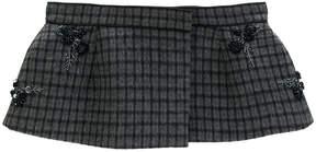 No.21 embellished check peplum belt