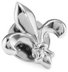 David Donahue Fleur De Lis Sterling Silver Lapel Pin
