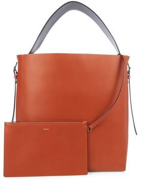 Valextra Sacca Smooth Leather Tote - Womens - Mid Tan