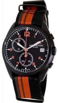 Hamilton Pilot Pioneer Chronograph Black Dial Mens Watch H76582933