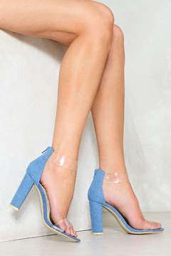 Nasty Gal nastygal Clear Skies Denim Heel