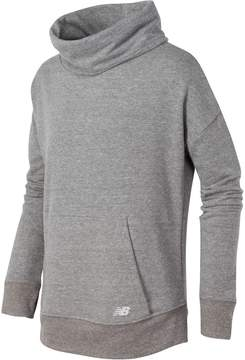 New Balance Girls 7-16 Funnel Neck French Terry Pullover