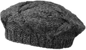 Joe Fresh Women's Cable Knit Beret, Charcoal Melange (Size O/S)