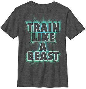 Fifth Sun Charcoal Heather 'Train Like a Beast' Crewneck Tee - Youth