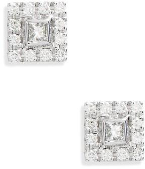 Bony Levy Women's Amara Small Square Diamond Stud Earrings (Nordstrom Exclusive)