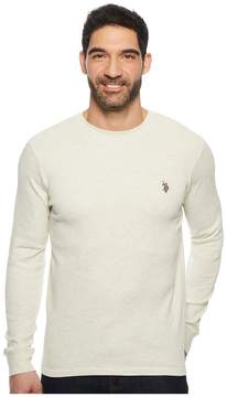 U.S. Polo Assn. Long Sleeve Crew Neck Solid Thermal Shirt Men's Long Sleeve Pullover