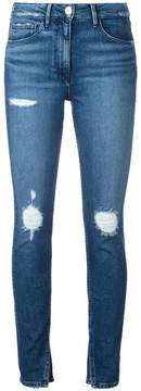 3x1 slit ankles cropped jeans