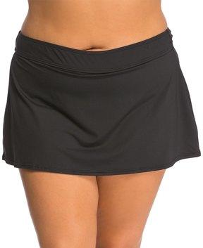 Anne Cole Plus Size Color Blast Solid Swim Skirt 8137521