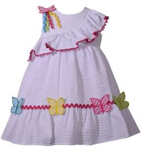 Bonnie Jean Toddler Girl Butterfly Seersucker Dress