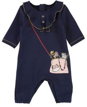Little Marc Jacobs Ruffle Trompe l'Oeil Coverall, Size 3-9 Months