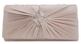 Nina Daina Satin Pleated Clutch