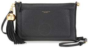 Tory Burch Pebbled Leather Crossbody Bag- Black - ONE COLOR - STYLE