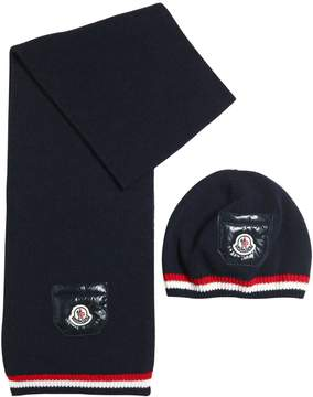 Moncler Wool Hat & Scarf
