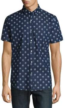 Sovereign Code Palm-Print Chambray Button-Down Shirt