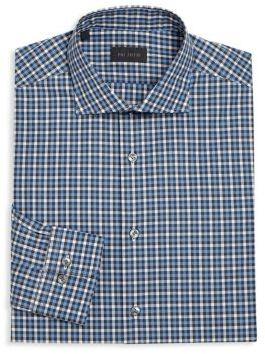 Pal Zileri Regular-Fit Tattersol Dress Shirt