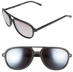 Ted Baker Men's 59Mm Polarized Aviator Sunglasses - Black